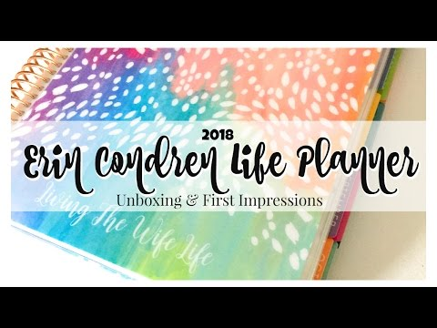 2018 Erin Condren Life Planner | Unboxing | First Impression | Accessories