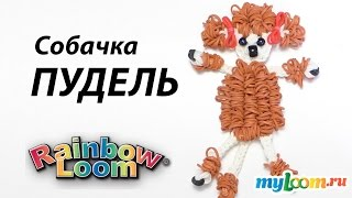 ПУДЕЛЬ из резинок Rainbow Loom Bands. Урок 317 | Poodles Dog Rainbow Loom