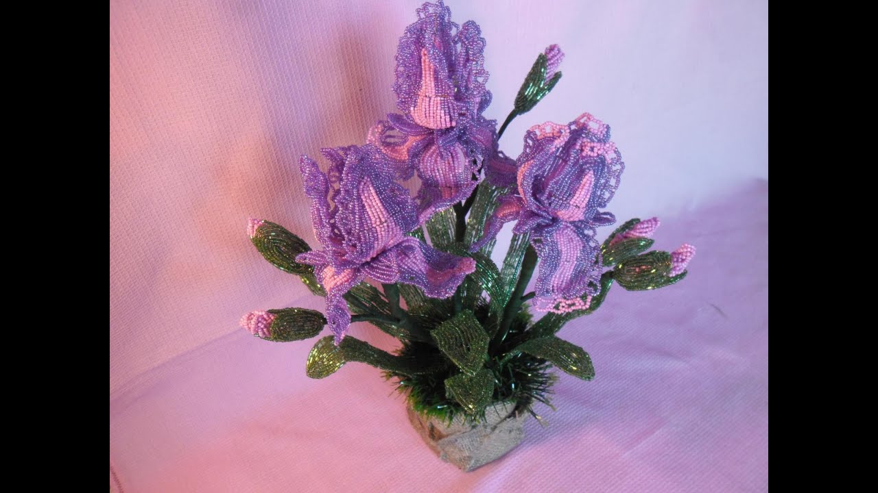 Ирис из бисера Цветы из бисера 89