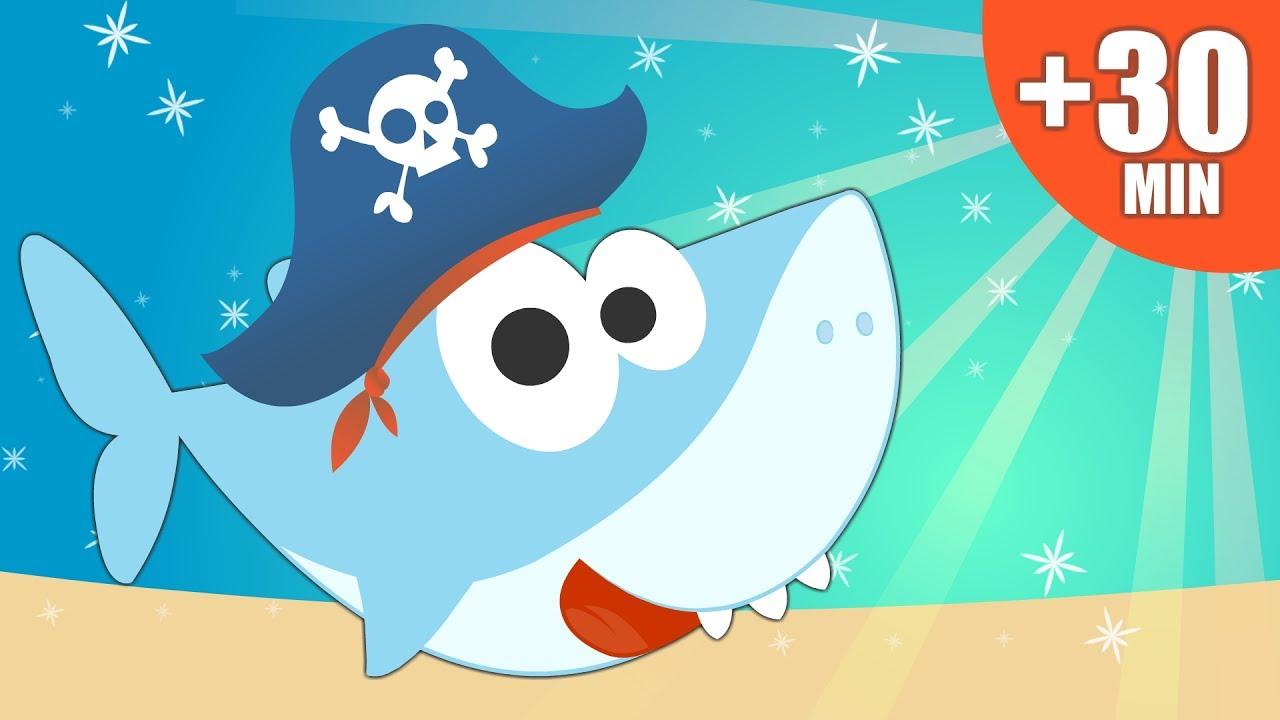 BABY SHARK en Español y más canciones divertidas para aprender | +30 Minutos de Recopilación Música