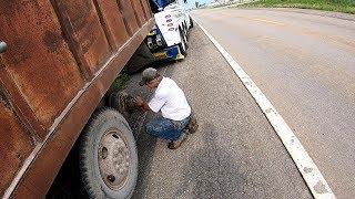 Helping a Farmer   Loaded Grain Truck Rear Tow