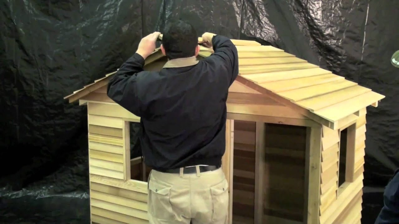 cedarshed presents assembling a playhouse youtube