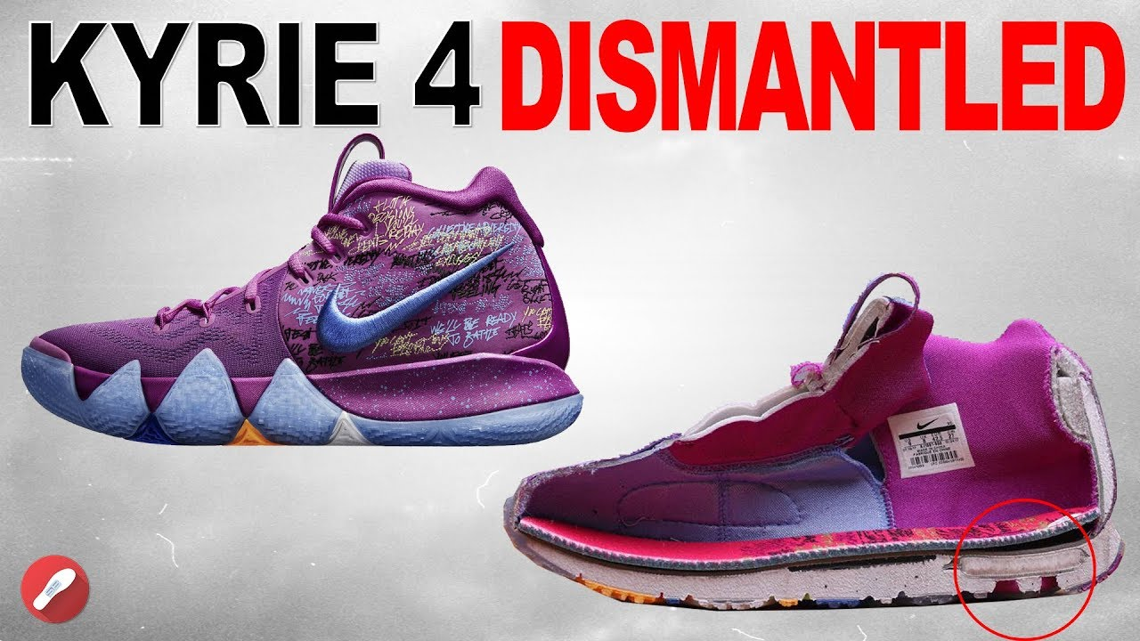 8eb7533430fa Nike Kyrie 4 DISMANTLED! - YouTube