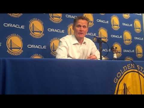 """Kerr on West/McGee rotations: """"It's almost all based on matchups…w/ David…it cut into JaVale's mins"""""""