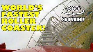 Formula Rossa World's Fastest Roller Coaster VR 360 POV Ferrari World Abu Dhabi Virtual Reality