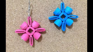 Quilling Earrings Authentic using quilling mould & sweker