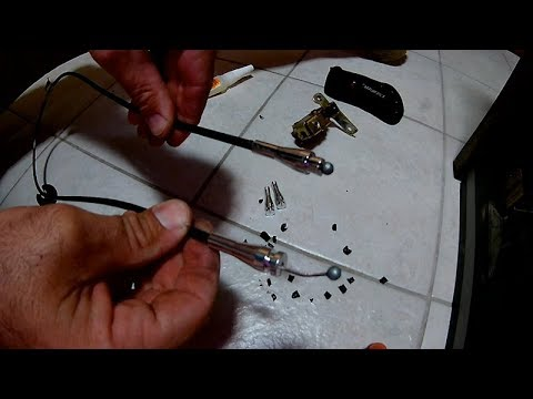 Door latch cable end repair - replace with metal ends - 99 Ford e250 Econoline Cargo - Project Van