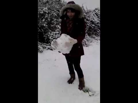 Snowy walk home!