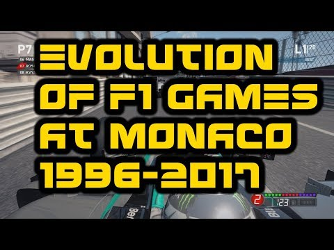 EVOLUTION OF F1 GAMES AT MONACO | 1996-2017 | IN 4K