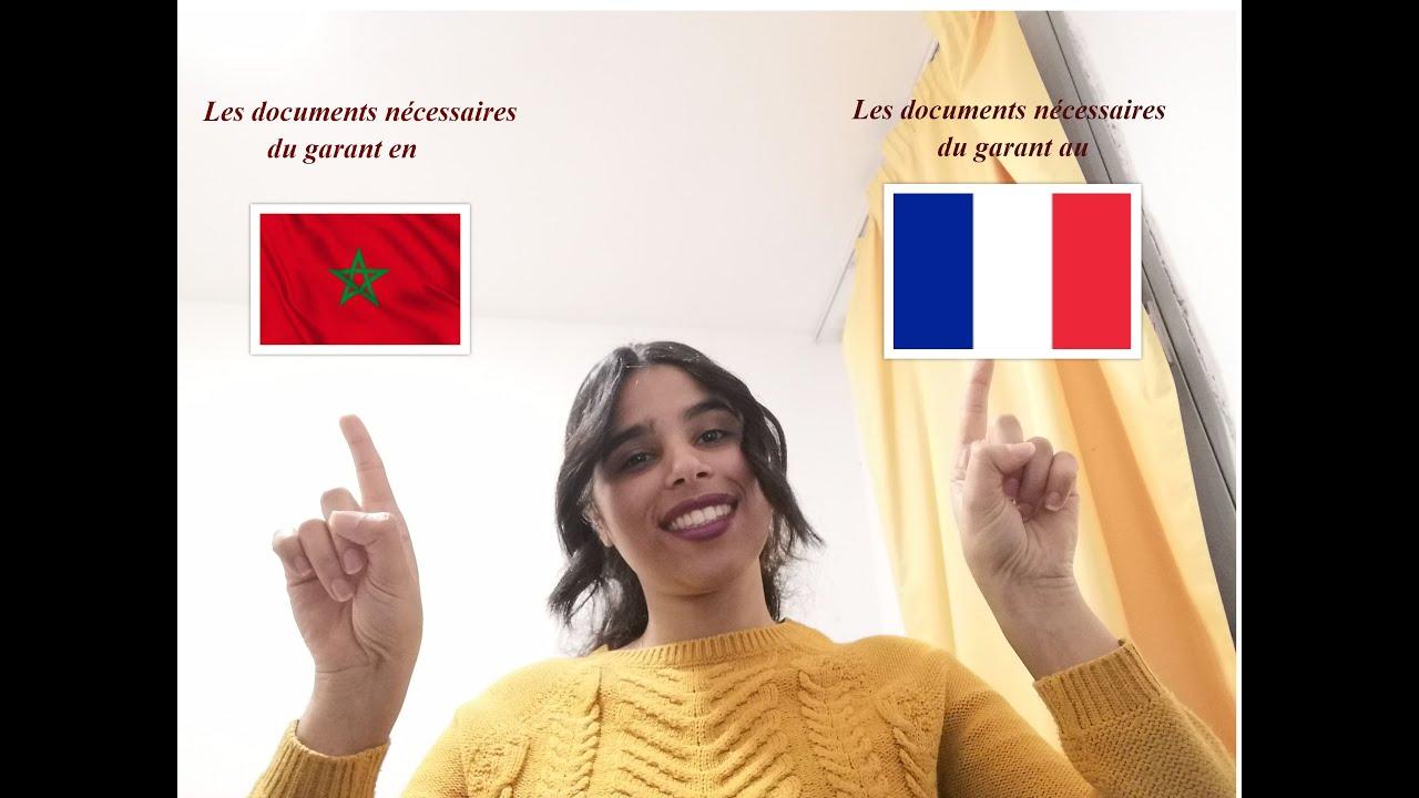 Download les documents nécessaires pour un garant en France et au Maroc, la procédure campus France