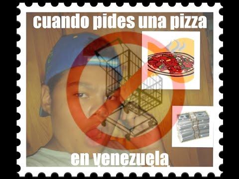 pidiendo una pizza en venezuela