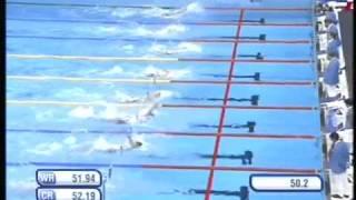 Natation - Championnats du Monde 2011 - Shanghaï - 100 m dos - Finale - C.Lacourt J.Stravius