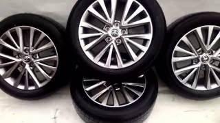 Диски с шинами на Toyota Camry оригинальные R 17