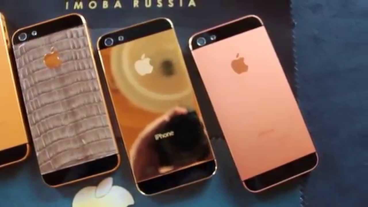 фото золотой айфон 5
