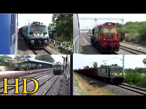22648 TVC - KORBA Express Departing WARANGAL Junction and Meeting Numerous Freights
