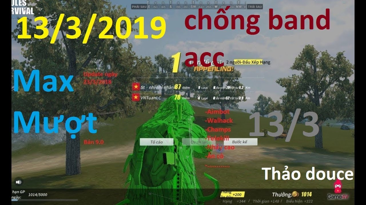 Hack Rules Of Survival PC – Hack ROS PC💥UPDATE MỚI, CHỐNG BAND ACC TOP 1 23kill