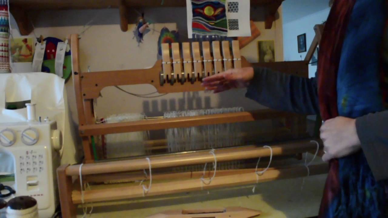 8 shaft table loom overview. - YouTube