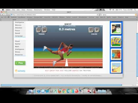 QWOP running - Possibly the most EPIC run ever! 1 knee FTW!