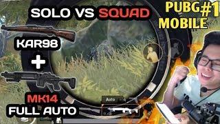 FULL GAME MK14 TERMINATOR SOLO VS SQUAD !!! HIYA HIYA HIYA - PUBG MOBILE INDONESIA