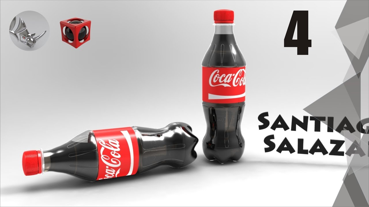 Tutorial Rhino 3D | Modelar Botella de Coca Cola (4/8) - YouTube