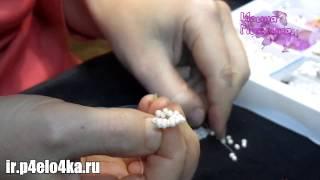 Как сделать цветок из бисера