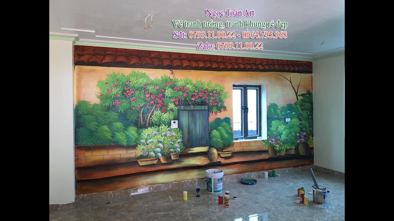 Vẽ tranh tường quán cafe, trà sữa tại  Sóc Sơn, Hà nội – LH vẽ tranh 0799110022