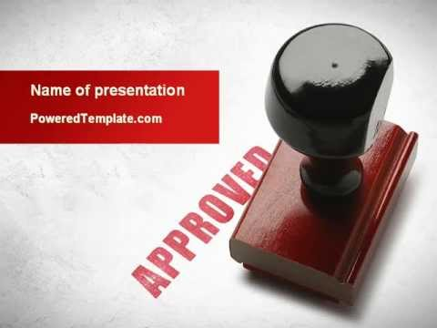 approved stamp powerpoint templatepoweredtemplate - youtube, Powerpoint templates