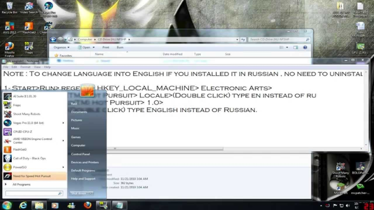 how to change the keyboardcontrols need for speed pc