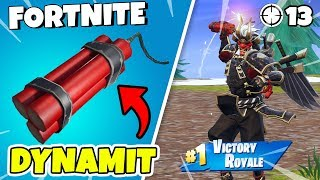 TEST NEW DYNAMITEN IN FORTNITE * MESSY START * BUYS SHOGUN SKINS