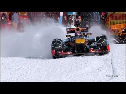Max Verstappen Runs F1 Car Through Snow   Xtreme CollXtion
