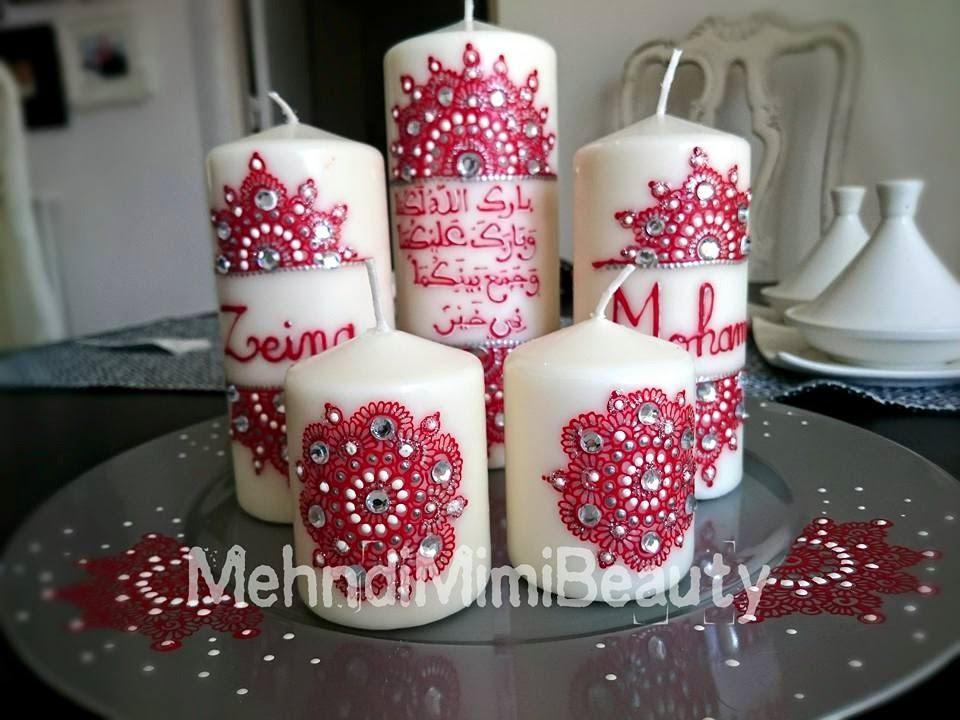 Henna Candles Set Bougies Henna