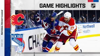 Flames @ Rangers 10/25/2021 | NHL Highlights