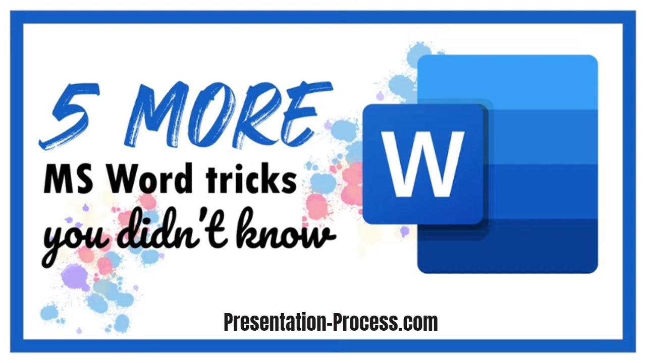 5 More Microsoft Word Tricks You Didn't know