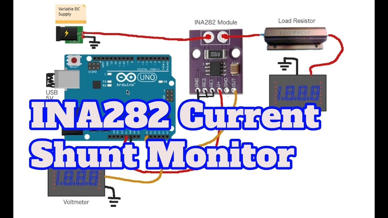 INA282 Current Shunt Monitor with Arduino