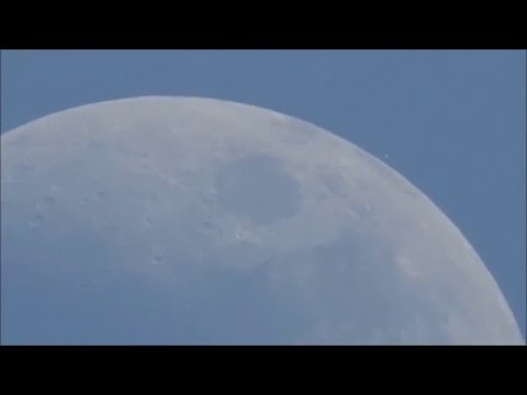 Rare  sight of a star behind the moon in broad daylight! Aldebaran occultation.
