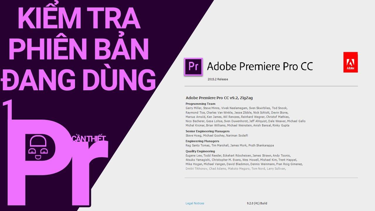 [Premiere Pro CC 2015] ◄ Hướng dẫn kiểm tra phiên bản đang dùng ► │Bài 1