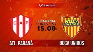 Atletico Parana vs Boca Unidos full match
