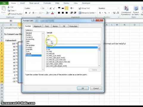 00024 How To Convert From Fahrenheit To Celsius Using Microsoft