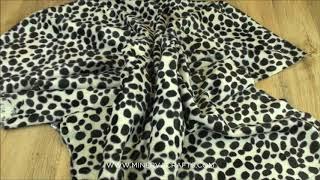 Animal Print Polyester Velboa Fabric