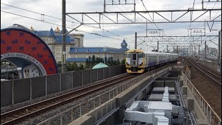 舞浜駅を通過する特急わかしお(E257系500番台) 2017年10月31日