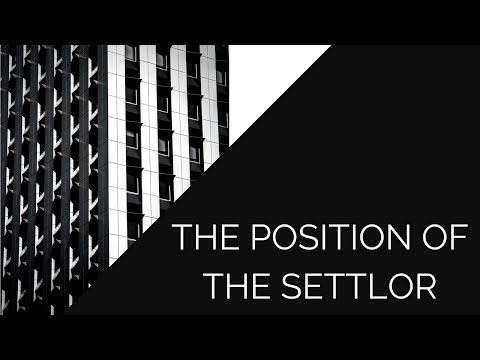 The Position of the Settlor