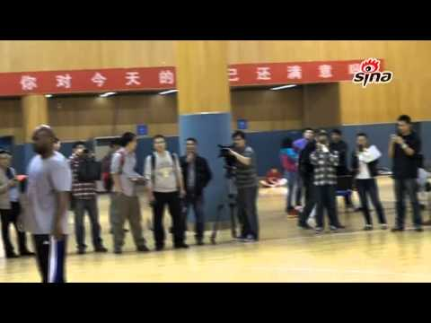 Tracy McGrady first personal practice in China--Qingdao Hawks