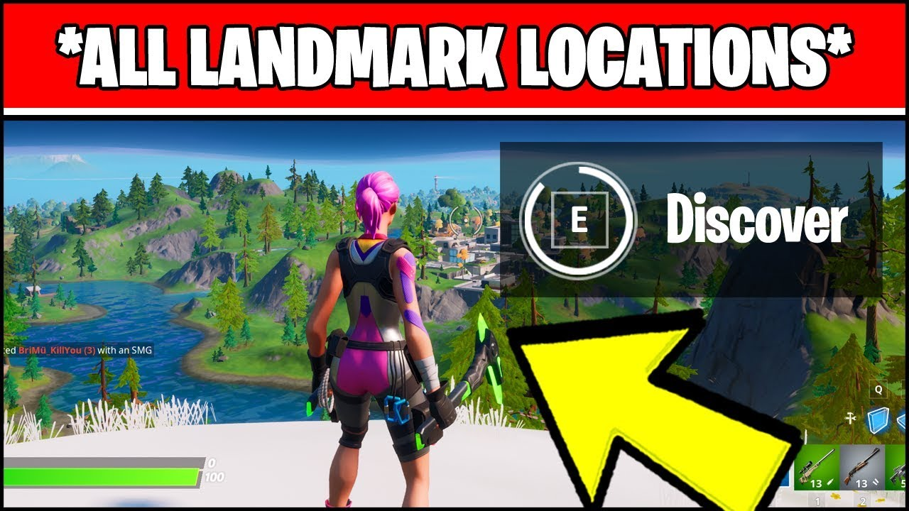 Discover Landmarks All Landmark Locations Fortnite Chapter 2 Season 1 Challenges
