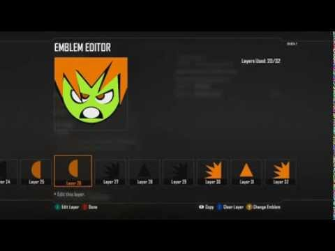 Black Ops 2 - Blanka (Street Fighter) Cartoon Artistic - Emblem Tutorial