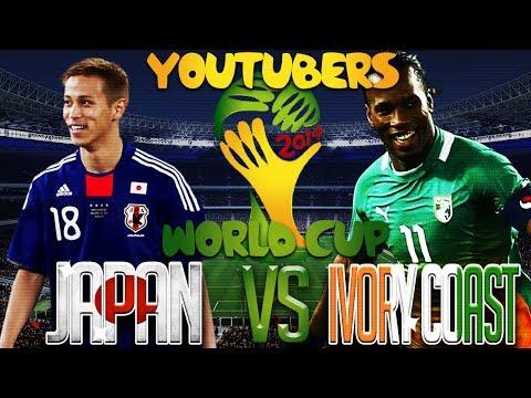Youtube FIFA World Cup Group Stage Match #2 Japan vs Ivory Coast   #TeamAjayy