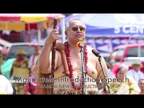 Manu'atele Introduction during Flag Day