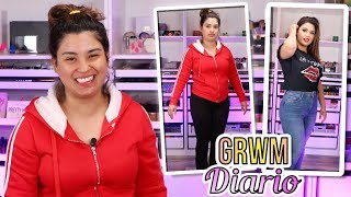 Transfórmate conmigo grwm para el diario tutorial de maquillaje y ropa - roccibella grwm