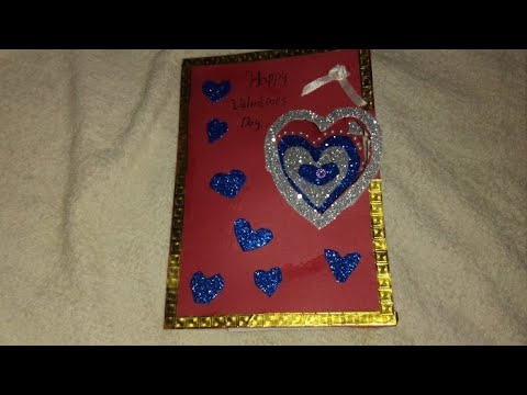 Valentines day card /easy card making idea