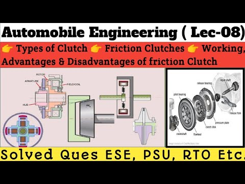 automobile-engg.-lec-08-part-01i-types-of-clutch-i-friction-clutch-&-i-advantages-&-disadvantages