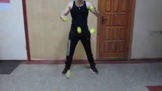 Урок 1. Обучение жонглированию на отскок.